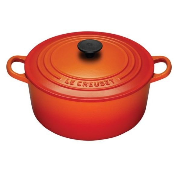 Le Creuset 55 Quart Round French Oven In Flame Peppercorn